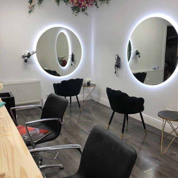 1200m Round Led Mirror Maxlite, Round Salon Mirrors With Lights